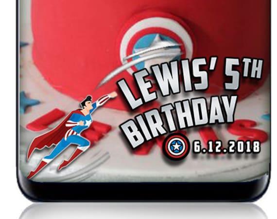 Captain America Birthday Party SnapChat filter - Custom geofilter!