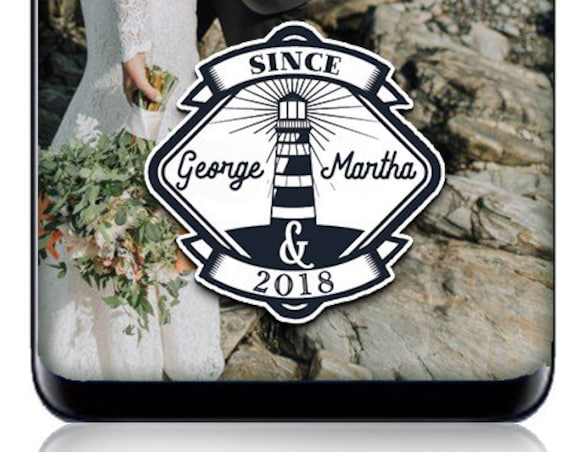 Nautical Lighthouse Badge Style Snap Chat Filter - Custom Wedding or Engagement Geofilter!