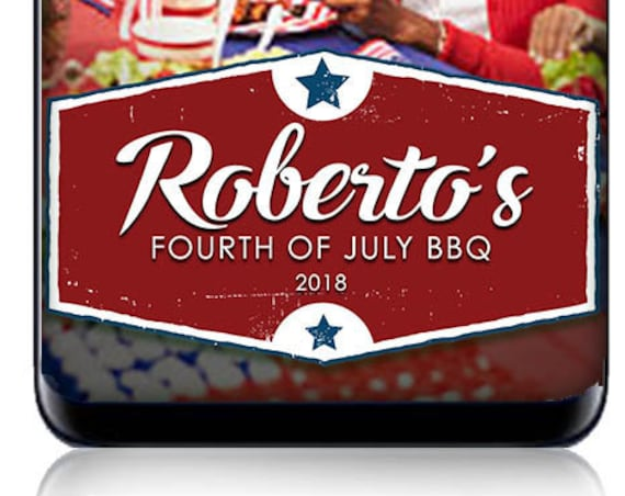 Fourth of July or BBQ Picnic SnapChat Filter - Custom Geofilter