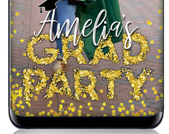 Grad Party Snap Filter - Pile of Glitter Snap Chat Filter - Custom Geofilter!