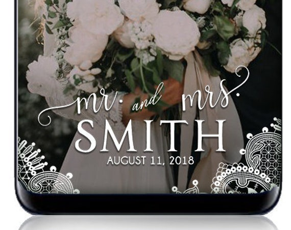 Mr. & Mrs. White Lace SnapChat Filter - Custom Wedding geofilter, custom wedding snap chat filter