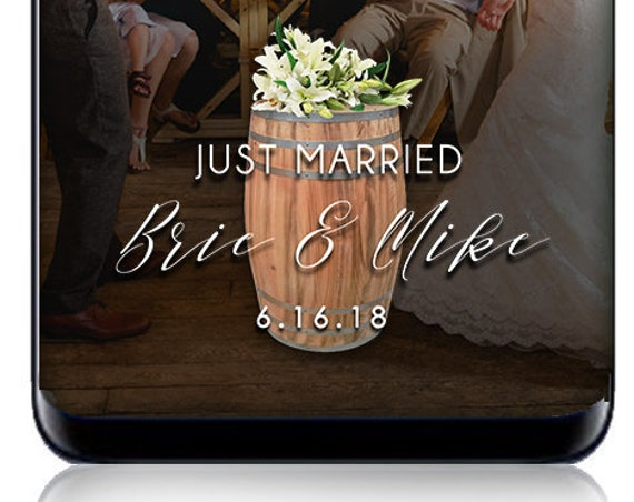 Wine Barrel Classic White Snap Chat Filter - Custom wedding geofilter!