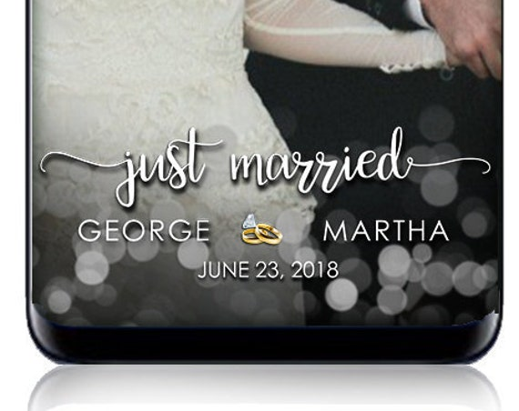 Just Married wedding SnapChat Filter - Custom Geofilter for any event!