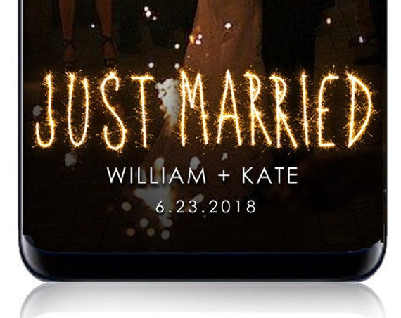 Just Married SnapChat Filter - Custom Geofilter - For any event!
