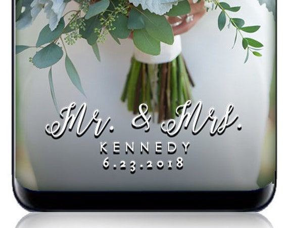 Mr & Mrs White SnapChat Filter - Customize for wedding or any event! Personalized Geofilter