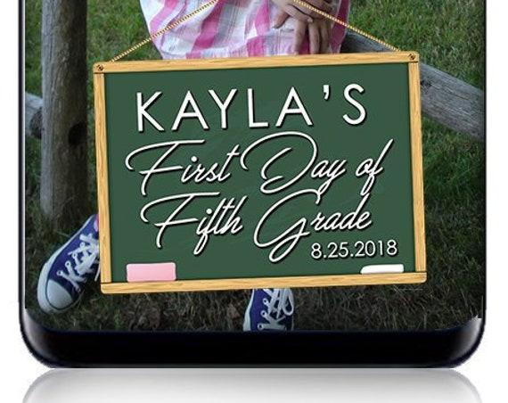 First Day of School Chalkboard SnapChat Filter - Custom Geofilter - Custom Snap Filter