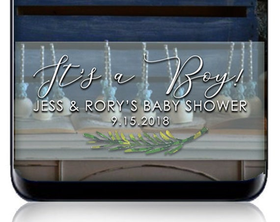 Baby Shower Snap Chat Filter - Watercolors - It's A Boy! Personalized Geofilter for SnapChat