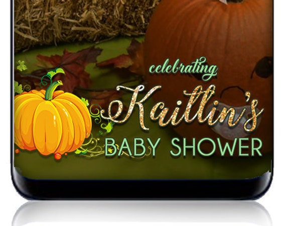 Pumpkin Baby Shower Snap Chat Filter - Custom Snapchat Geofilter - Personalized Sign