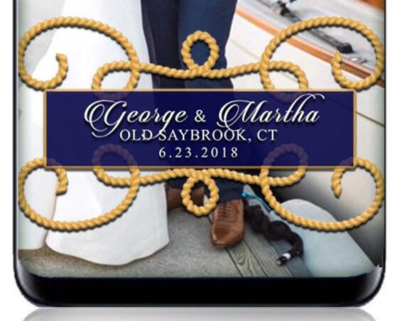 Gold Ropes Nautical Yacht Club Wedding SnapChat Filter - Nautical Custom Geofilter!