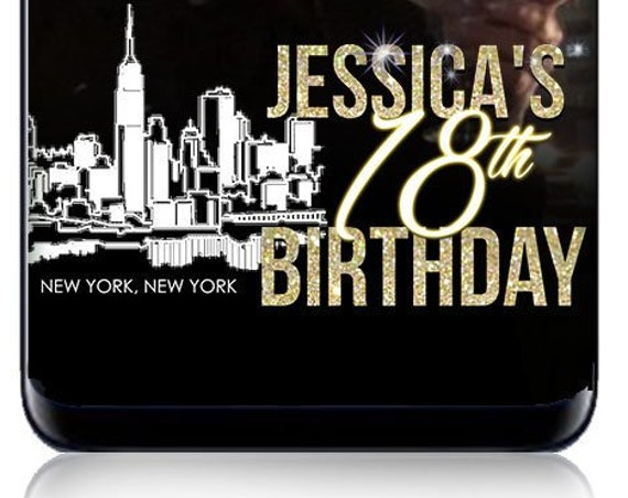 New York Themed Birthday Party SnapChat Filter - Personalize!