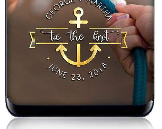 Nautical Tie the Knot SnapChat Filter - Nautical Wedding - Personalize for any event! Custom nautical geofilter