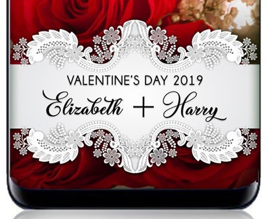 Doily Lace White Text Valentine's Day SnapChat Filter - Personalized Geofilter!