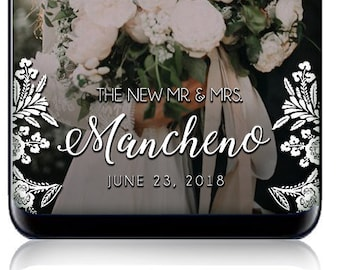 White Lace Wedding SnapChat Filter - Custom SnapChat Geofilter for Wedding - The New Mr. & Mrs. Filter