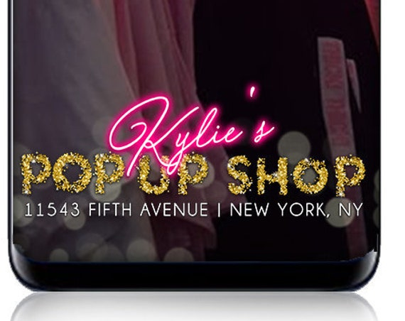 Pop Up Shop SnapChat Filter - Customize for pop up shop company event! Company snapchat