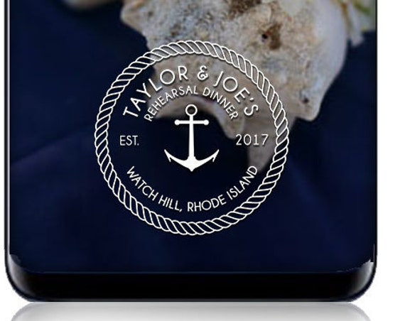 Nautical Rehearsal Dinner SnapChat Geofilter - Custom Snap Filter - Personalized for Rehearsal Dinner or Event