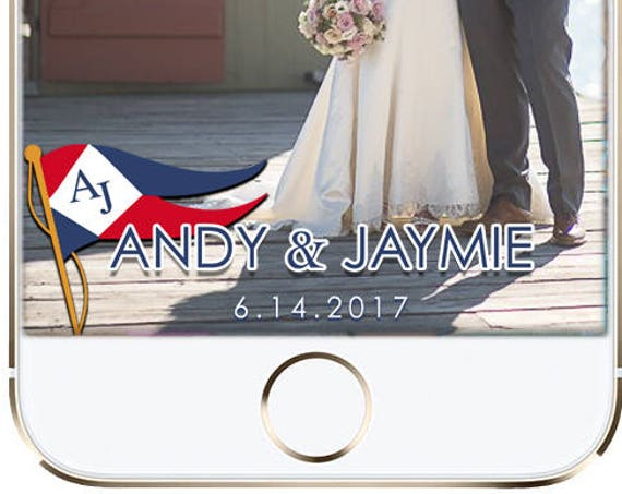 Nautical Flag SnapChat Filter - Personalize for Any Event!