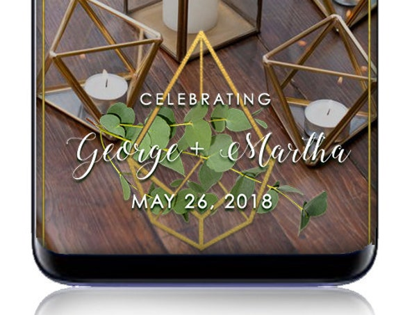 Gold Geo Event SnapChat Filter - Custom Wedding Geofilter!