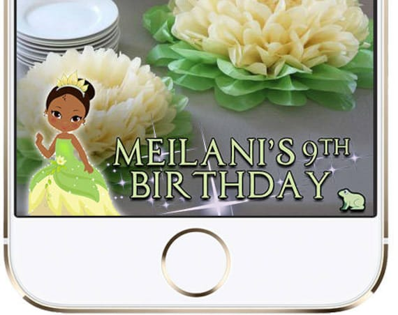 Tiana Snap Chat Filter - Princess and the Frog - Customize!