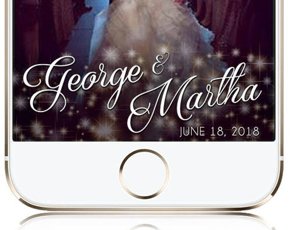 Sparkle Wedding Snap Chat Filter - Customize!