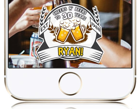CHEERS N BEERS themed Snap Chat Filter - Customize!