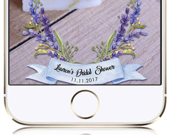 Lavender Watercolor Snap Chat Filter - Customize for any event!