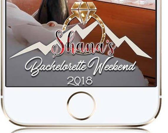 Ski Weekend Themed Snap Chat Filter - Bachelorette or Party Customize!