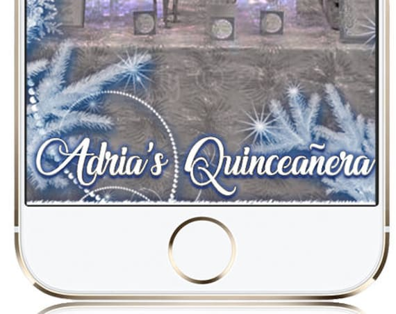 Winter Wonderland Quinceanera or ANY EVENT Snow Snap Chat Filter - Customize for any event!