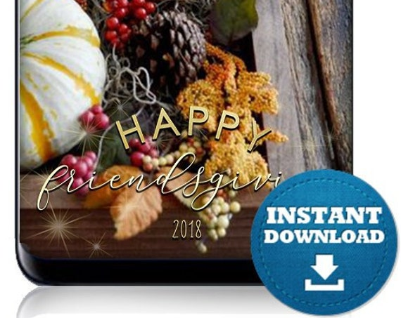 Happy Friendsgiving Instant Download SnapChat Filter - Geofilter