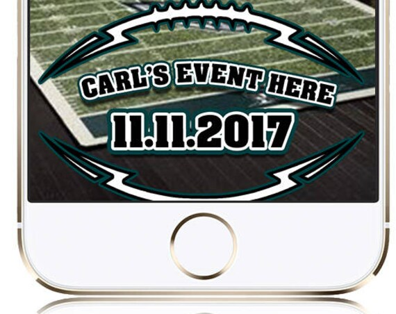 Eagles' Football themed SnapChat Filter - TailGate Party Customize!