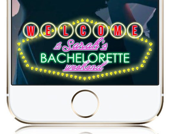 Vegas Themed Bachelorette or Birthday Party Snap Chat Filter - Customize!