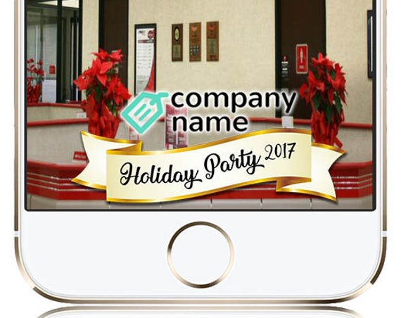 Office / Company Holiday Party Snap Chat Filter - Customize with Logo!