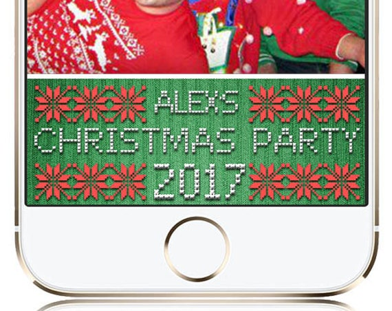Ugly Christmas Sweater Party SnapChat Filter - Customize!