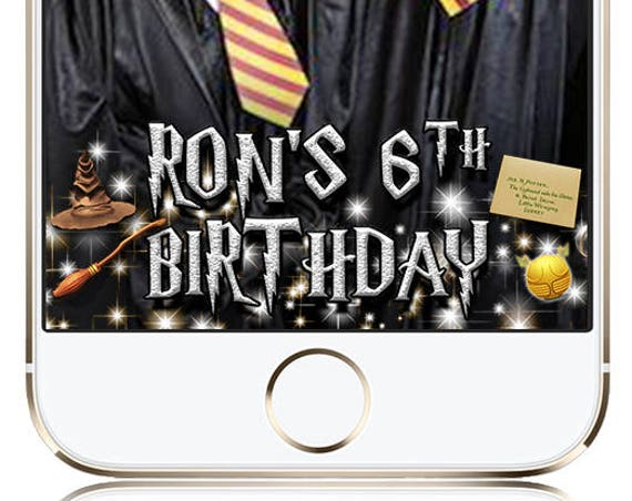Harry Potter themed wizarding event Snap Chat Filter - Customize!