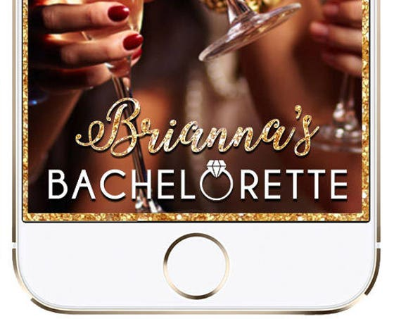 Bachelorette Party SnapChat Filter - Personalized Gold Glitter Geofilter