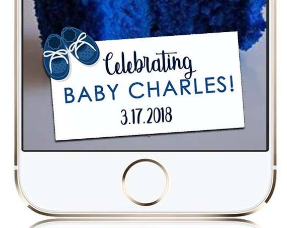 Blue Shoes Baby Shower Blue Themed - Customize!