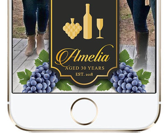 Wine Themed SnapChat filter - Customize!