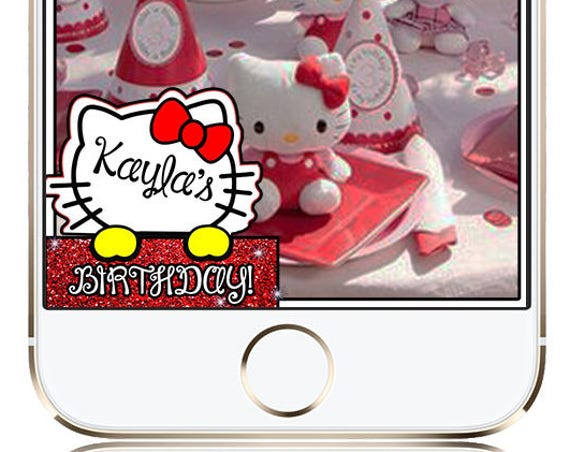 Hello Kitty Themed Snap Chat Filter - Customize!