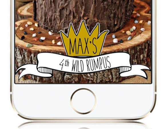 Where the Wild Things Are Themed Snap Chat Filter - Customize!