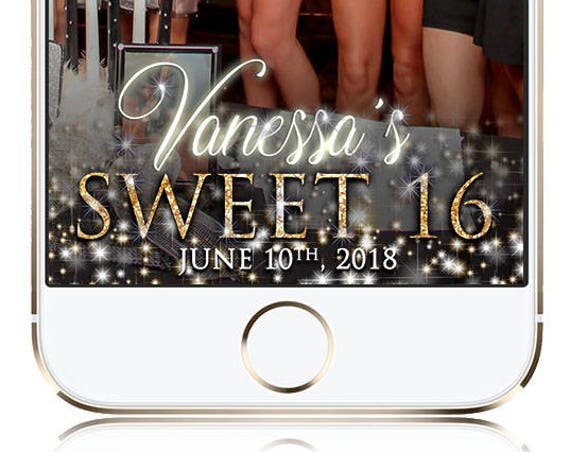 Sweet Sixteen or Quinceanera Snapchat - Glow Up Customize!