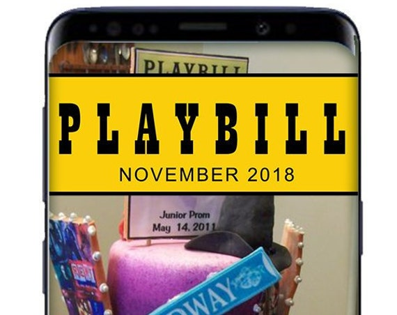 Broadway Playbill SnapChat Filter - Custom Geofilter for Event - Personalize Snap Filter!
