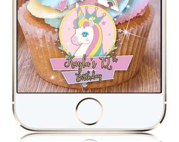 Unicorn Party Snap Chat Filter - Customize! Birthday Geofilter