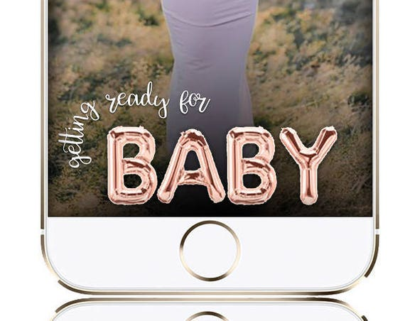 Baby Shower Balloons SnapChat Filter - INSTANT DOWNLOAD