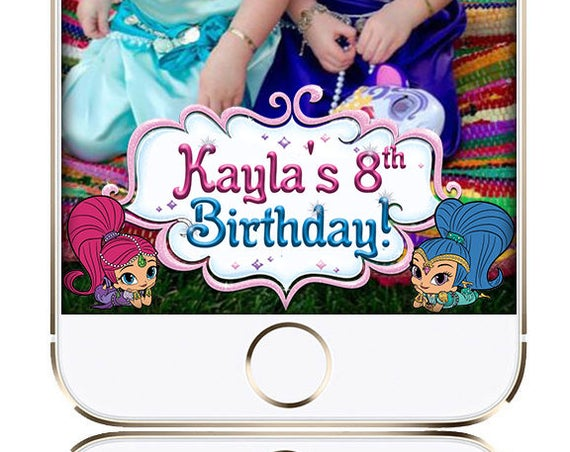 Shimmer Shine Themed Snap Chat Filter - Customize!