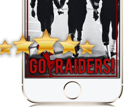 Football Team / Sport Team SnapChat Filter with Cheerleader - CUSTOM COLORS