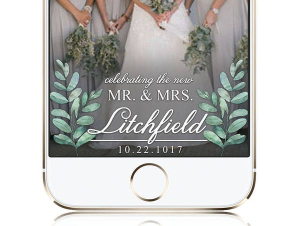 Eucalyptus Foliage Wedding SnapChat Filter - Customize for any event!
