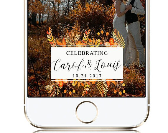 Fall foliage Snap Chat Filter - Custom for any event!