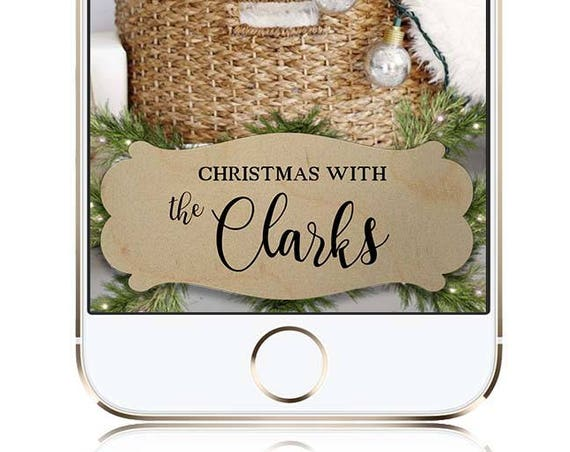 Pine themed Snap Chat filter - Wedding, Christmas, Holiday / Winter - Customize!