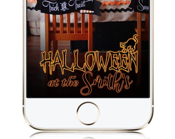 Glowing Halloween Snap Chat Filter - Personalize Custom Geofilter