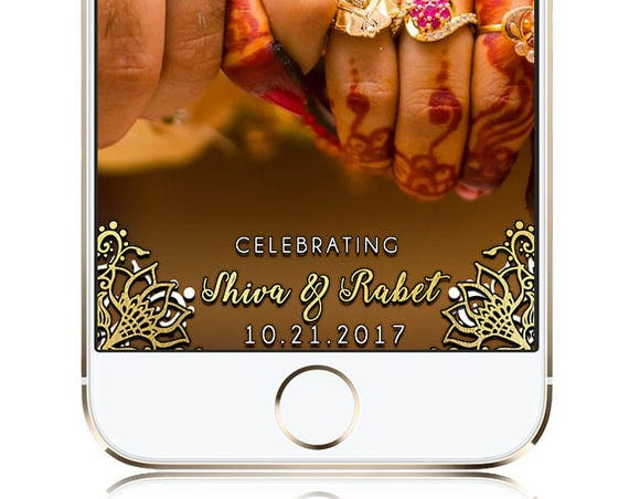 Gold SnapChat Filter - Customize for any event!