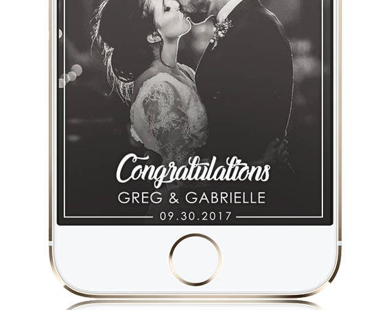 Congratulations - Classic SnapChat Filter / Wedding or Celebratory SnapChat Geofilter